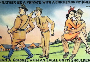 I'd rather be a private with a chicken on my knee, than a colonel with an eagle on my shoulder | Warspot.net