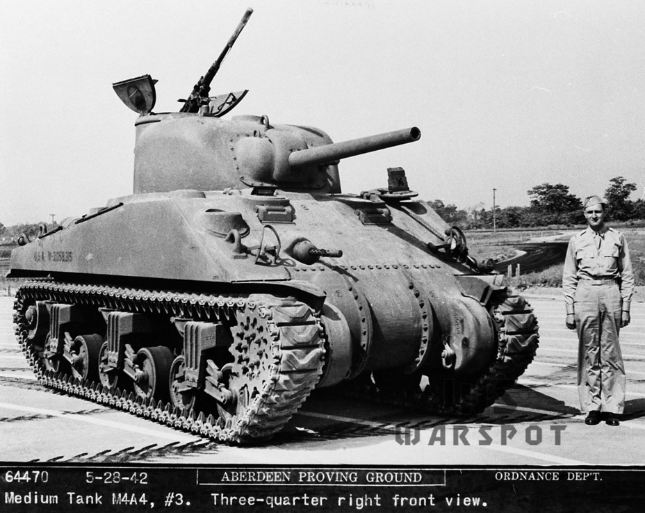 ​The third pilot M4A4. Aberdeen Proving Grounds, May 28th, 1942 - A Tank for Allies | Warspot.net