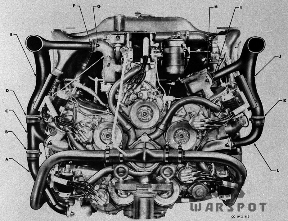 ​A modernized A57 engine, used in M4A4 tanks starting with the third production series - A Tank for Allies | Warspot.net