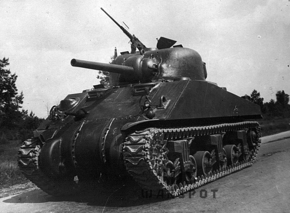 ​Tank U.S.A. W-3057484 used in trials in the summer of 1943 - A Tank for Allies | Warspot.net