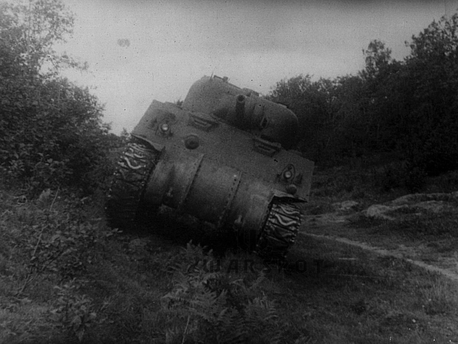 ​Driving at a tilt during trials. The M4A4 turned out to be too greedy, consuming enough fuel for a heavy tank - A Tank for Allies | Warspot.net