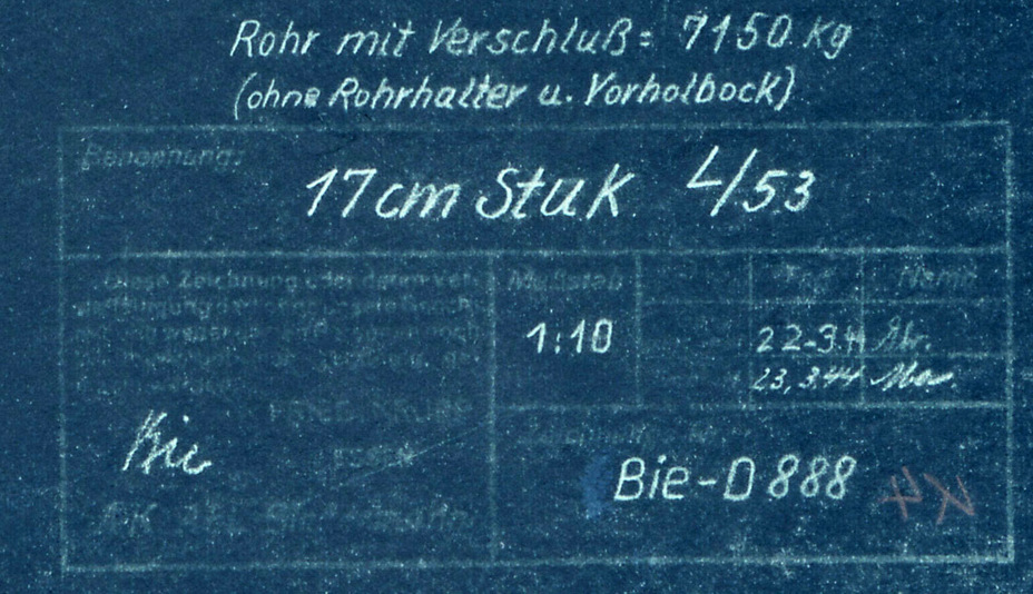 ​Data from a blueprint of the 17 cm StuK L/53 dated March 23rd, 1944 - Superheavy Paper Tank Destoyers | Warspot.net