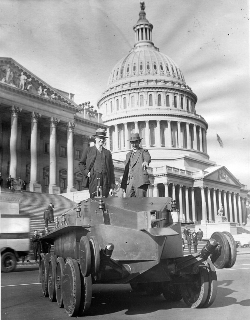 ​Demonstration of the new tank on Capitol Hill. Christie actively used the press to promote his designs - The Tank Patriarch | Warspot.net