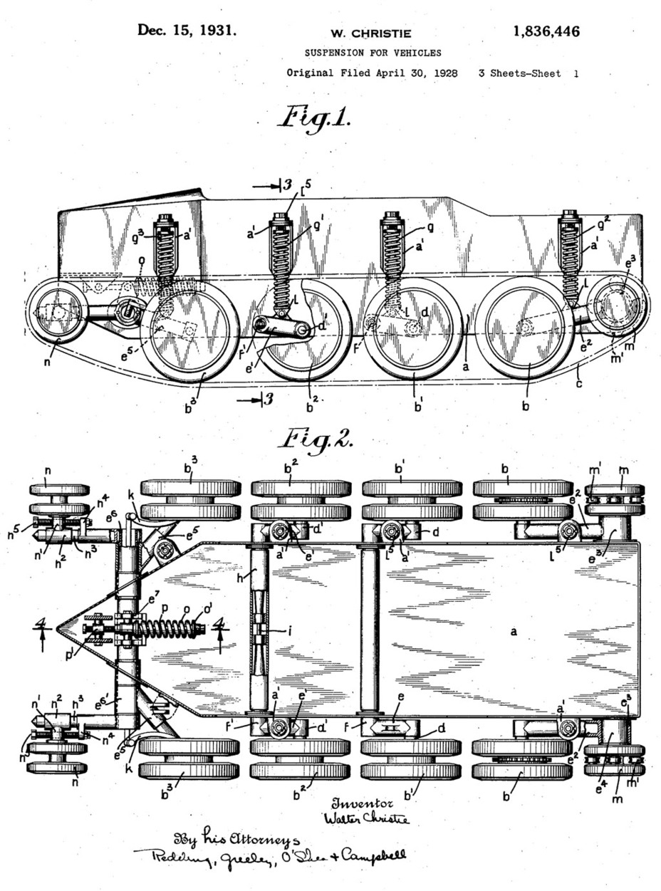 ​Coil spring suspension patent, the main cause of Christie's success - The Tank Patriarch | Warspot.net
