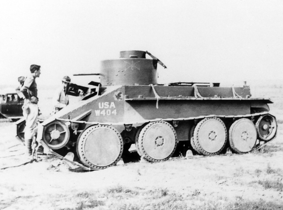 ​Tank with serial number USA W.404, which had a Browning M1918 machinegun instead of a 37 mm cannon - The Tank Patriarch | Warspot.net