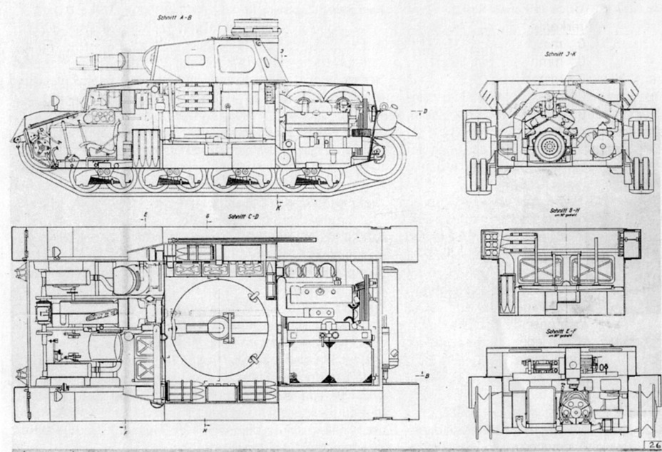 ​Diagram of the inside of the tank - Pz.Kpfw.IV Ausf. D through E | Warspot.net