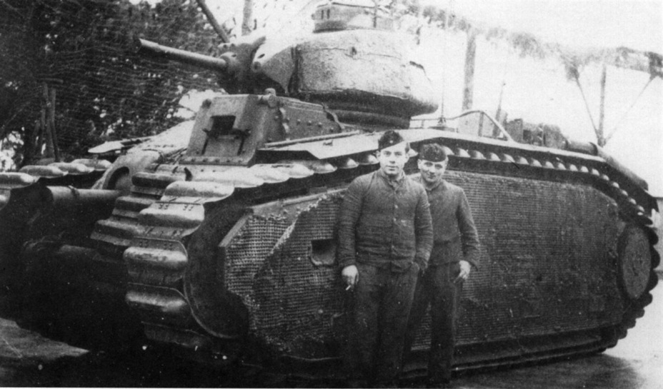 ​Pz.Kpfw. B2 from the 213th Tank Battalion. This unit had the most tanks of this type. Their crews also took the longest to surrender: May 8th, 1945 - Char B in German Service | Warspot.net