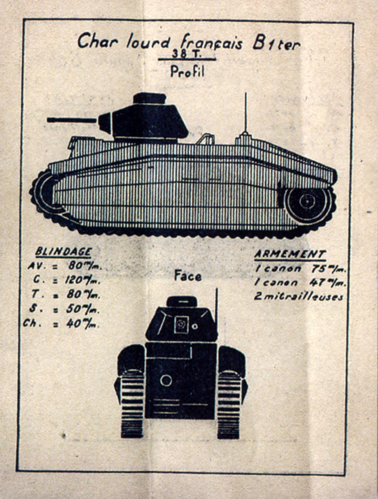 ​A diagram of a captured Char B1 ter from the French foreign tank identification guide, 1944 - Char B in German Service | Warspot.net