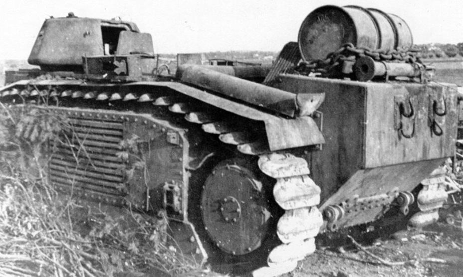 ​A flamethrower tank from the 224th Tank Company, late 1944. These tanks had their commander's cupolas cut off completely - Char B in German Service | Warspot.net