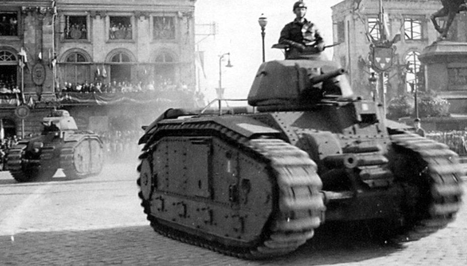 ​Char B1 bis from the second squadron of the 13th Dragoon Regiment. May of 1945 - Char B in German Service | Warspot.net