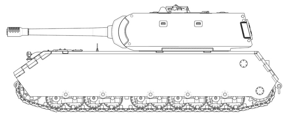 ​Reconstruction of the Pz.Kpfw. Maus as of January 1st, 1943 (blueprint K.3387). These were the last radical changes, and from here on out the tank changed a lot less - Mauschen: Rat Race | Warspot.net