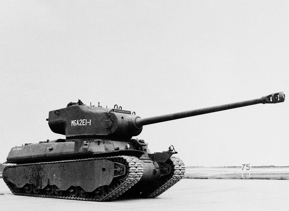 ​The first M6A2E1 prototype, Aberdeen proving grounds, June 7th, 1945 - M6A2E1: The Heavy Clownshoe | Warspot.net