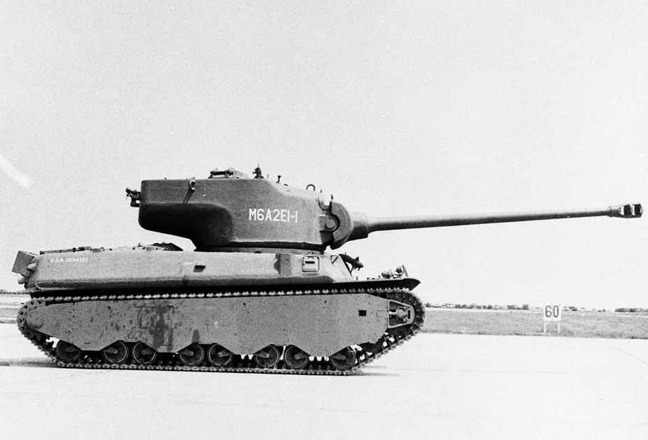 ​The M6 wasn't particularly short, but the M6A2E1's height grew to almost 3.5 meters - M6A2E1: The Heavy Clownshoe | Warspot.net