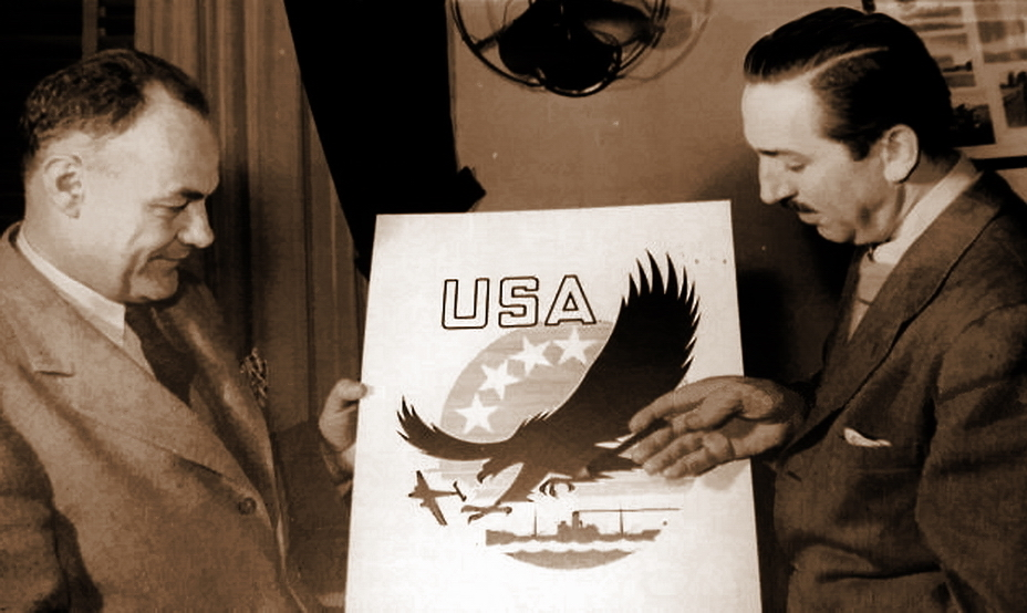 ​Walt Disney shows a sketch of the emblem to U.S. Secretary of Agriculture Claude Wickard. - Highlights for Warspot: Soviet ace and American canned food | Warspot.net