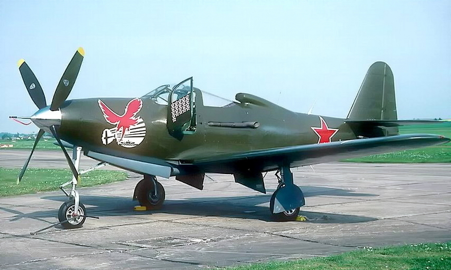 "​In the 90s, the eagle emblem underwent a reverse stylization. One of the ""Kingcobra"", which was restored for flights, was decided to paint ""like Sirotin"" with the corresponding picture on the nose. Now it has only a slight resemblance to the original. - Highlights for Warspot: Soviet ace and American canned food 