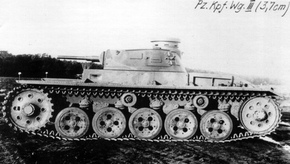​The same turret installed on an experimental Z.W., 1935 - Pz.Kpfw.III Ausf. A: Christie, German Style | Warspot.net