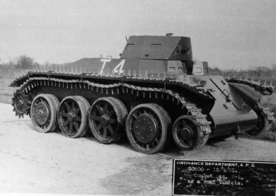 ​Combat Car T4 at the Aberdeen Proving Grounds, August 12th, 1933. Only the suspension concept remains from Christie's design - Combat Car T4: Christie Style | Warspot.net