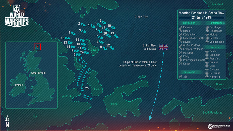​ - Ship Scuttling at Scapa Flow | Warspot.net