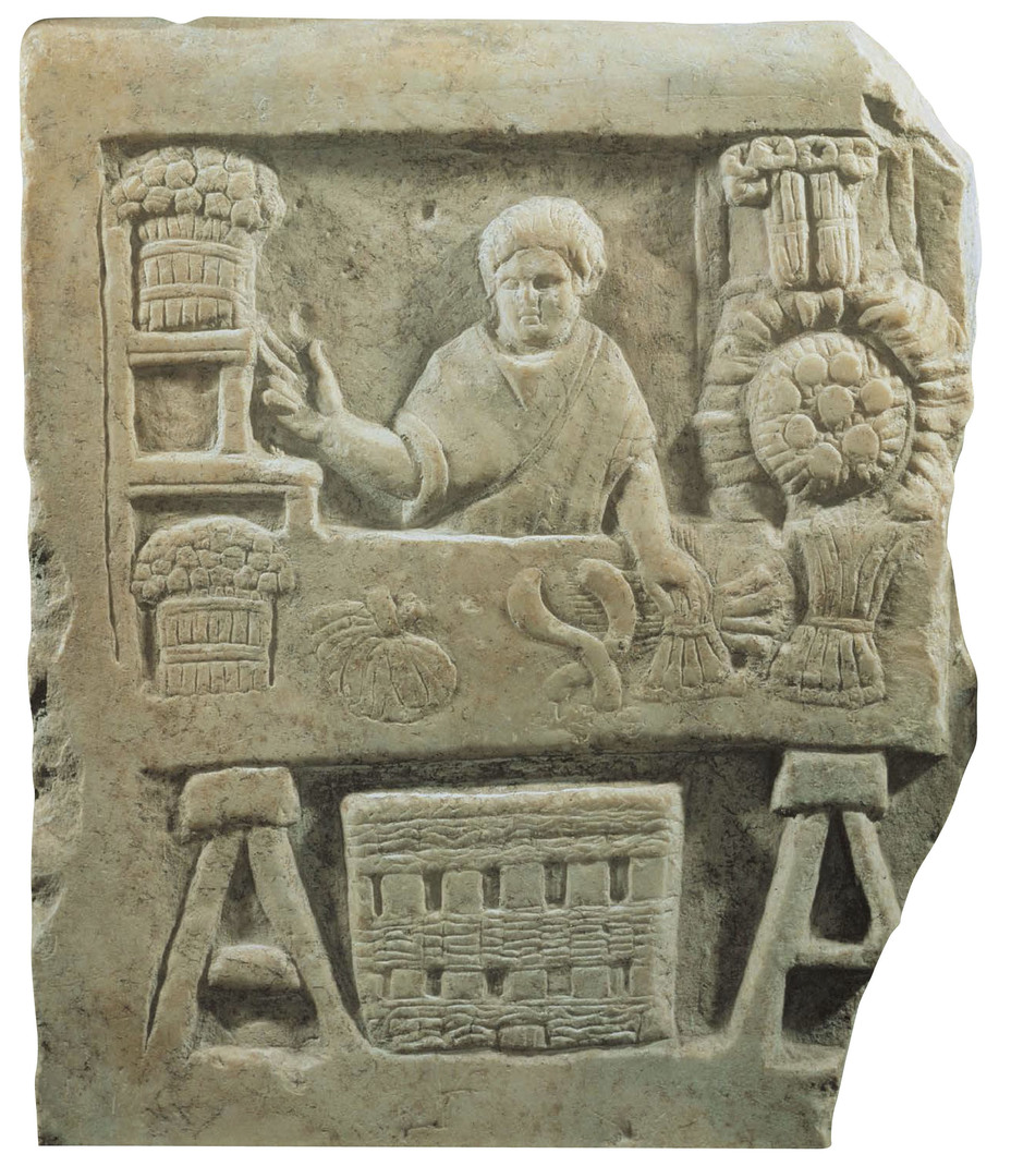 ​Funerary relief of a bread and a vegetable vendor, III century AD, Ostia, Italy. - Diet of Legionaries | Warspot.net