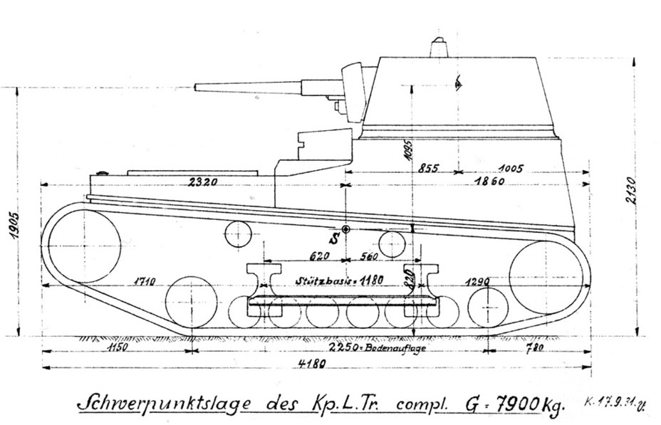 ​The only known image of a Kp.L.Tr. with a second type of suspension - Krupp Leichttraktor | Warspot.net