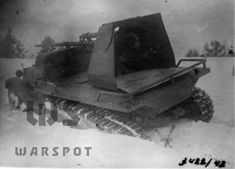 ​The gun platform design can be seen in this photo - Halftrack Experiments | Warspot.net