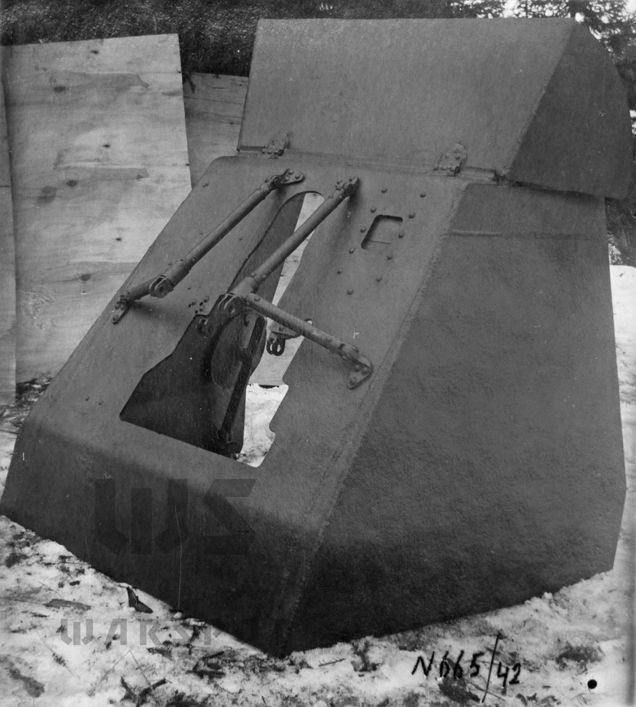 ​Overall view of the gun shield - Halftrack Experiments | Warspot.net