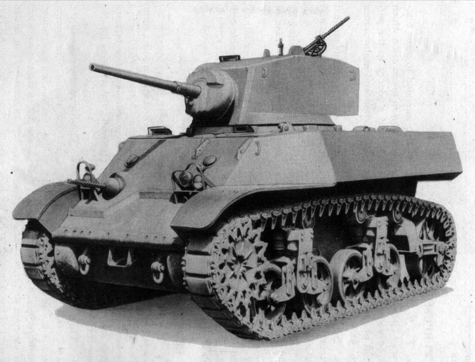 ​This was the initial incarnation of the Light Tank M3A3. Several elements, including the pistol port on the turret, were removed via retouching - Light Tank M3A3: American Emigrant | Warspot.net