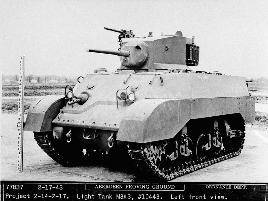 ​As you can see, the pistol ports were gone by February of 1943 - Light Tank M3A3: American Emigrant | Warspot.net
