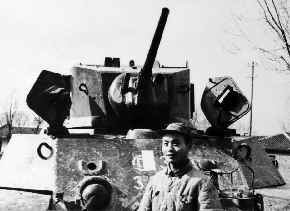 ​A Chinese Light Tank M3A3 commander, presumably 1949 - Light Tank M3A3: American Emigrant | Warspot.net