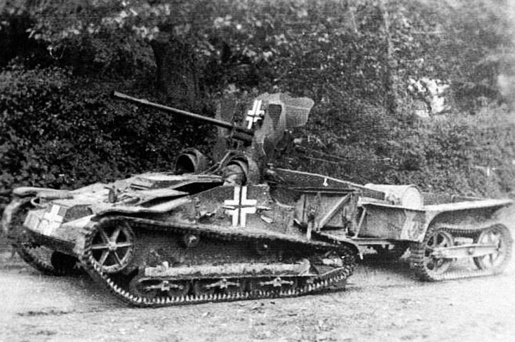 ​An improvised tank destroyer: Pak 112(f) installed on a Renault UE prime mover - Canon 25 mm S.A. Mle 1934: A «Baby» Gun for a Grown Up War | Warspot.net