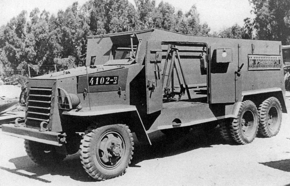 ​A similar armoured car on the GMC CCKW-353 chassis - Israeli Sandwiches | Warspot.net
