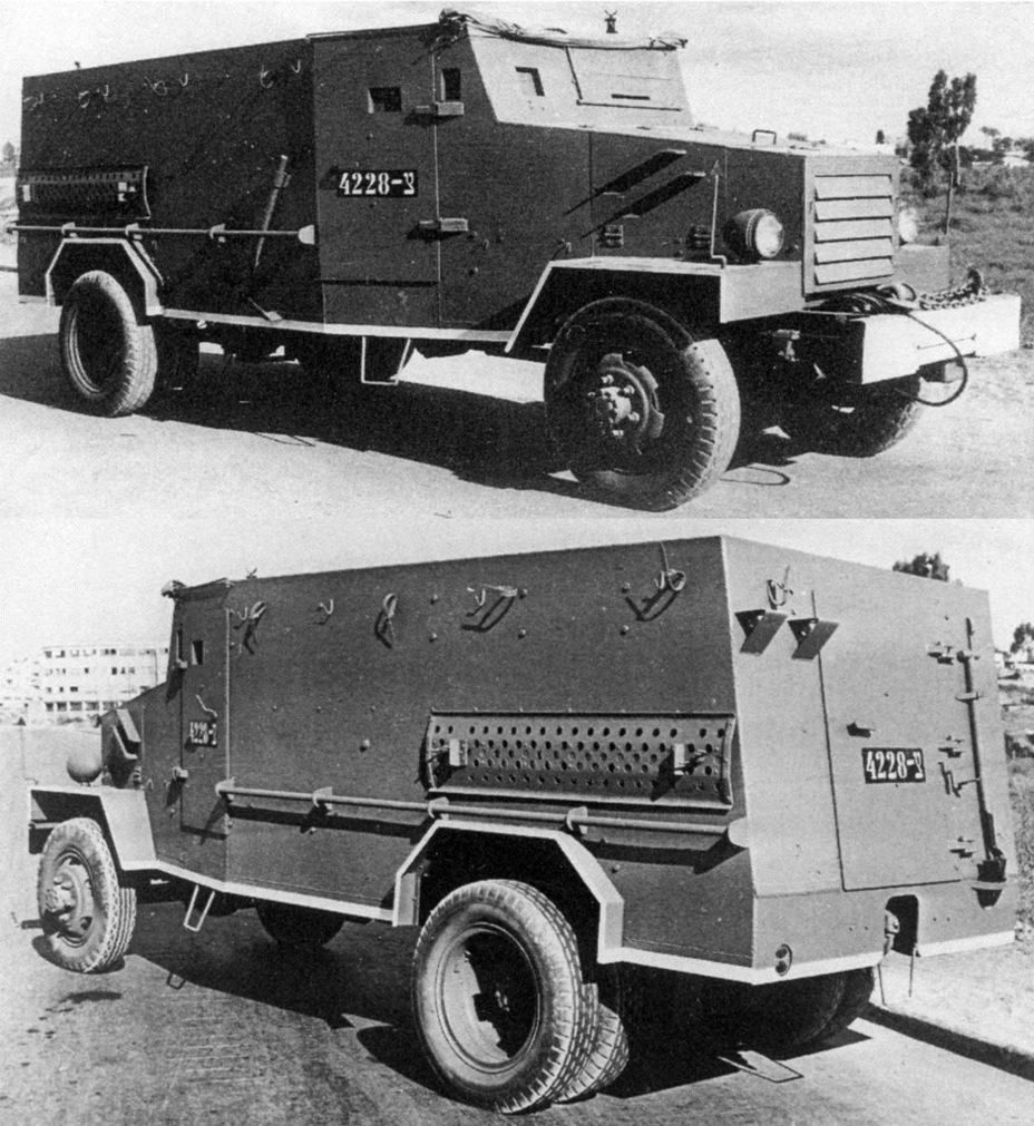 ​Improvised armoured car on the Chevrolet G-7117. It looks just like a factory-built armoured car - Israeli Sandwiches | Warspot.net