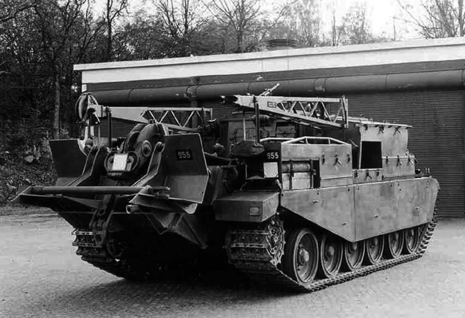 ​Bgbv 81 A, a recovery vehicle on the Centurion chassis. 13 such vehicles were purchased - Adventures of the Centurion in Scandinavia | Warspot.net