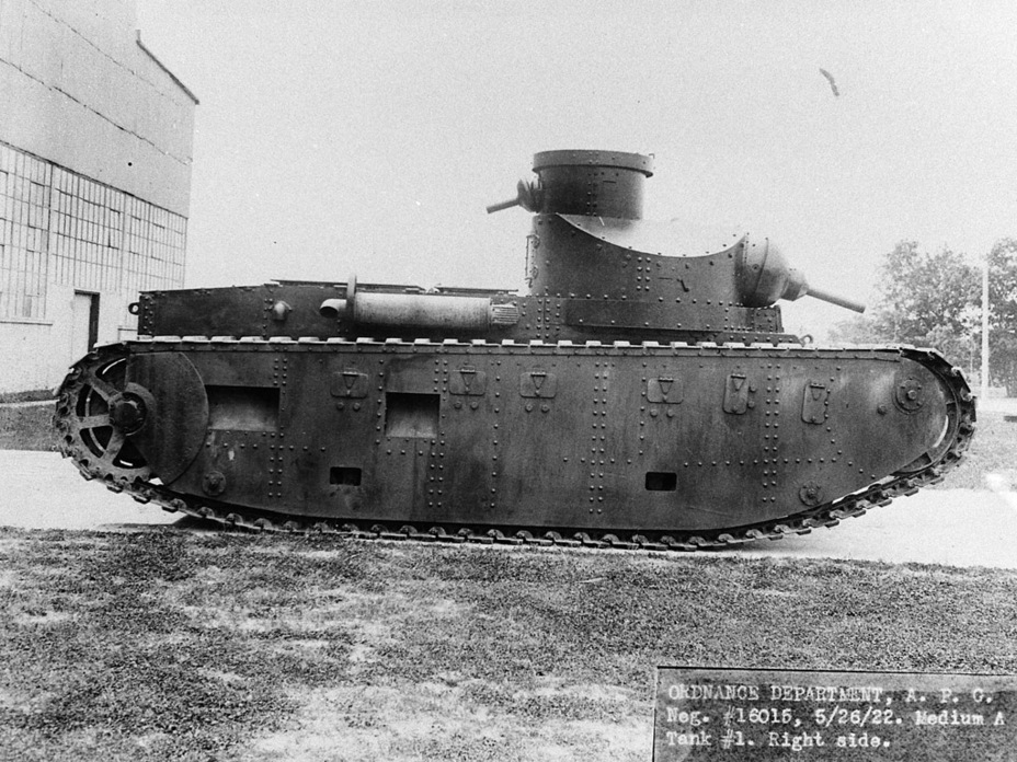 ​Medium Tank M1921 at the Aberdeen Proving Grounds, February 1922. The tank still carried its old index - Medium Tank T1E1: Britain's Heir | Warspot.net