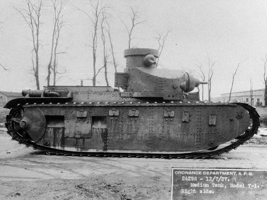 ​Medium tank T1, Aberdeen Proving Grounds, July 1927 - Medium Tank T1E1: Britain's Heir | Warspot.net