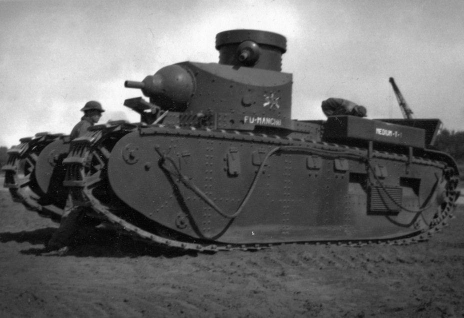 ​Medium Tank T1E1 in the 67th Infantry Company armed with medium tanks. The tank received a personal name, «Fu Manchu», after a fictional villain - Medium Tank T1E1: Britain's Heir | Warspot.net