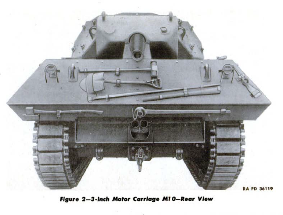 "​M10 tank destroyer with a 3"" gun, rear view. This gun had improved penetration compared to the 75 mm M3, but it was not so easy to put it into a medium tank - The Longest Millimeter 