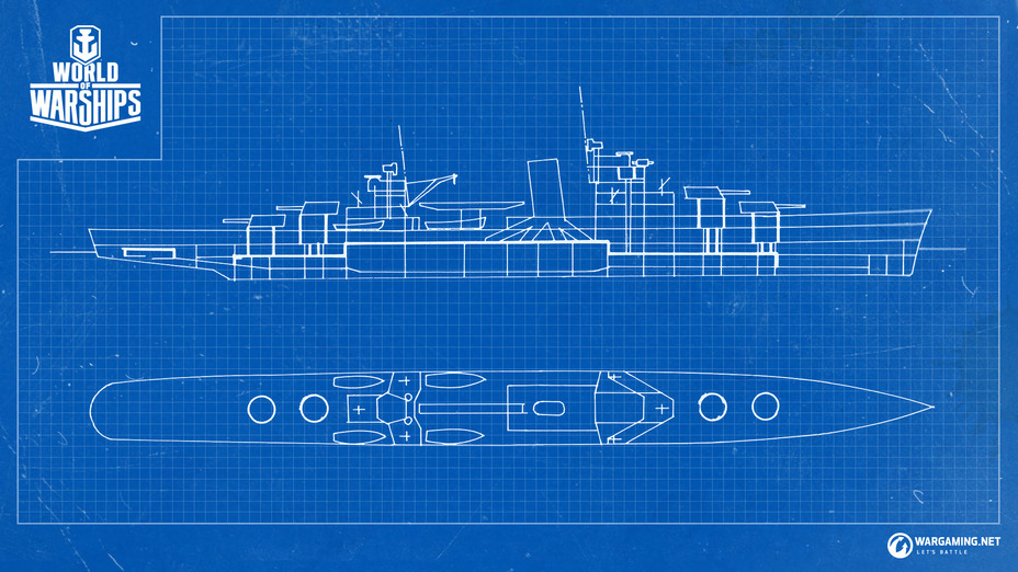 ​Dallas cruiser project is built upon the draft design №389 4C scheme as of December 8, 1934 - Paper Ships: the Project 389 Dallas Light Cruiser | Warspot.net