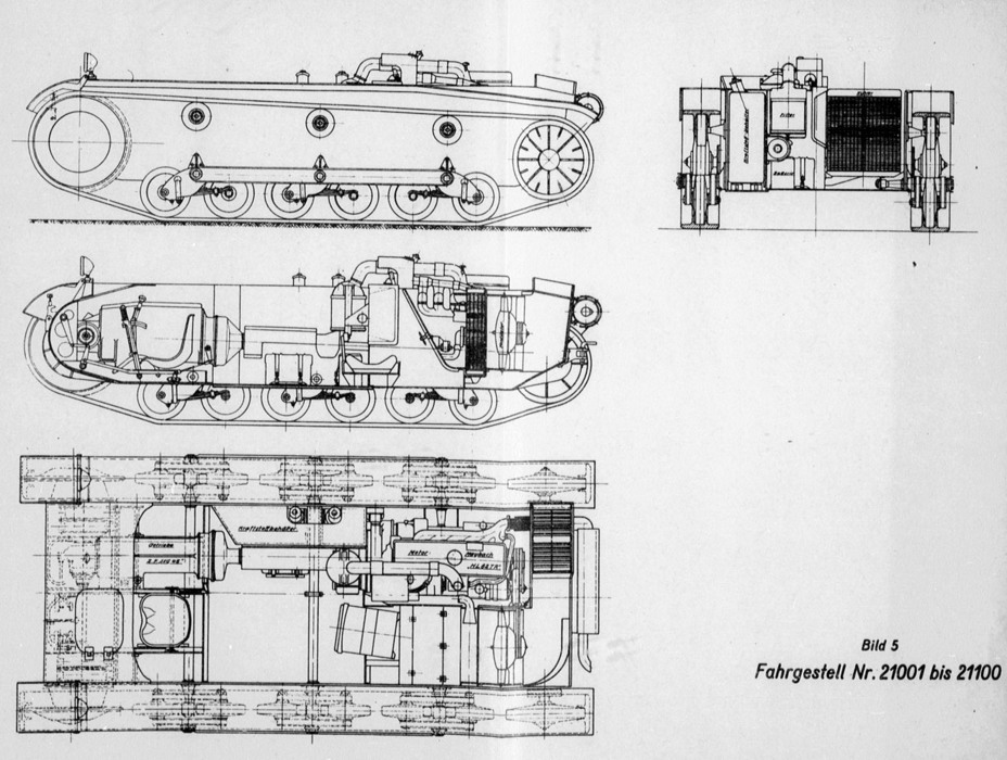 ​PzII Ausf. b chassis diagram. The lengthened hull made it noticeably easier to arrange components in the engine compartment - Pz.Kpfw.II Ausf.a through b: An Unplanned Tank | Warspot.net