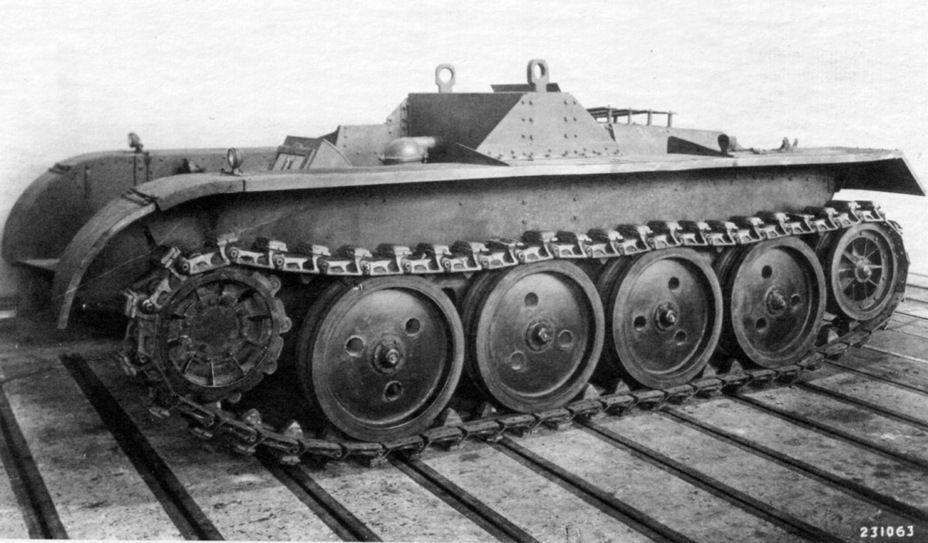 ​MAN experimental chassis. The running gear is similar to that used on Kniepkamp's halftracks - Pz.Kpfw.II Ausf. D-E: Unlucky Torsion Bars | Warspot.net