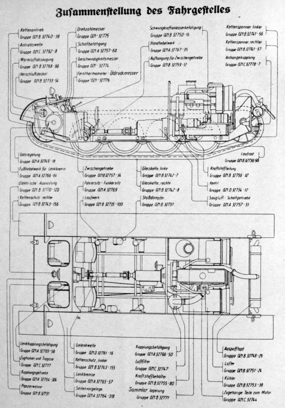 ​Diagram of the PzII Ausf. D chassis. You can see how much it differs from its predecessor - Pz.Kpfw.II Ausf. D-E: Unlucky Torsion Bars | Warspot.net