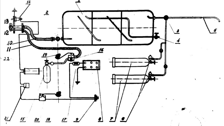​Diagram of the flamethrowers used on the PzII(F) - Pz.Kpfw.II Ausf. D-E: Unlucky Torsion Bars | Warspot.net