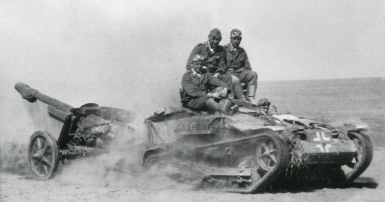 ​A Pak 97/38 towed by another trophy, the Renault UE transporter - French in German Hands | Warspot.net