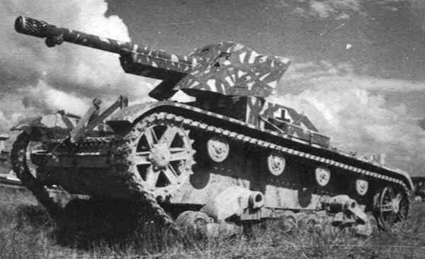 ​Tank destroyer on a T-26 chassis - French in German Hands | Warspot.net
