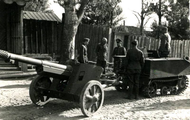 ​Another such example: this Pak 97/38 is being towed by a formerly Belgian Vickers Utility B tractor - French in German Hands | Warspot.net