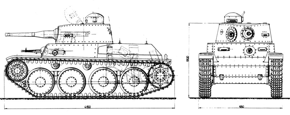 ​The initial form of the Praga LTL, armed with a 37 mm Skoda A 4 Beta gun - Praga LTL and Pzw 39: Tanks for Neutrals | Warspot.net