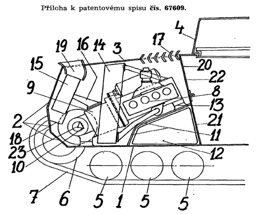 ​Aleksey Surin's patent for an engine combined with a gearbox, designed for the Praga LTL - Praga LTL and Pzw 39: Tanks for Neutrals | Warspot.net