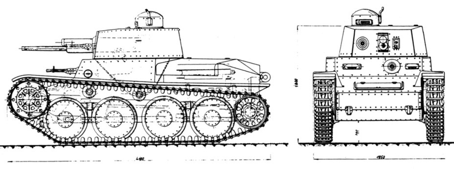​Preliminary design of the Praga LTL-H - Praga LTL and Pzw 39: Tanks for Neutrals | Warspot.net