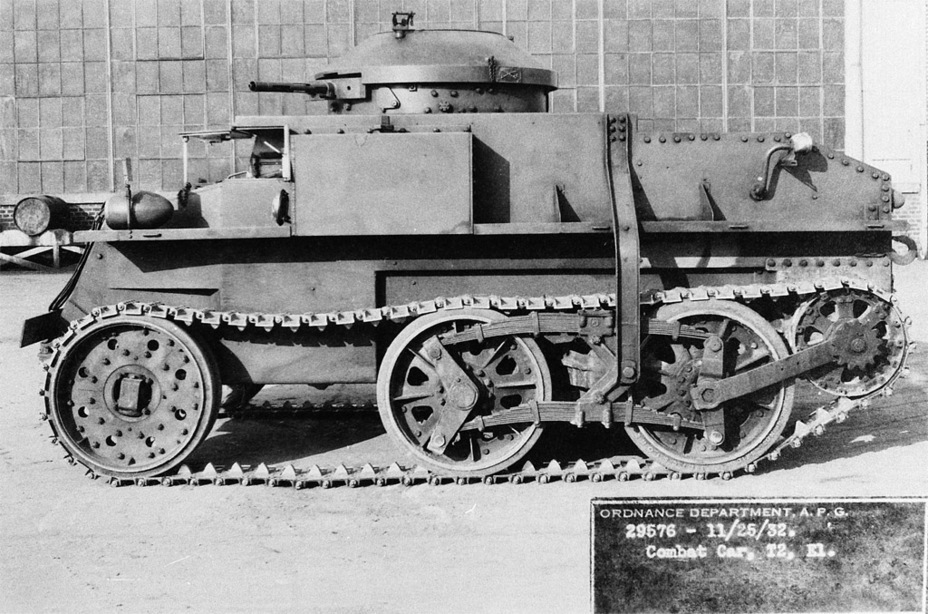 ​Combat Car T2E1, an attempt to fix up a tank that had no future - Combat Car M1: Armour for American Cavalry | Warspot.net