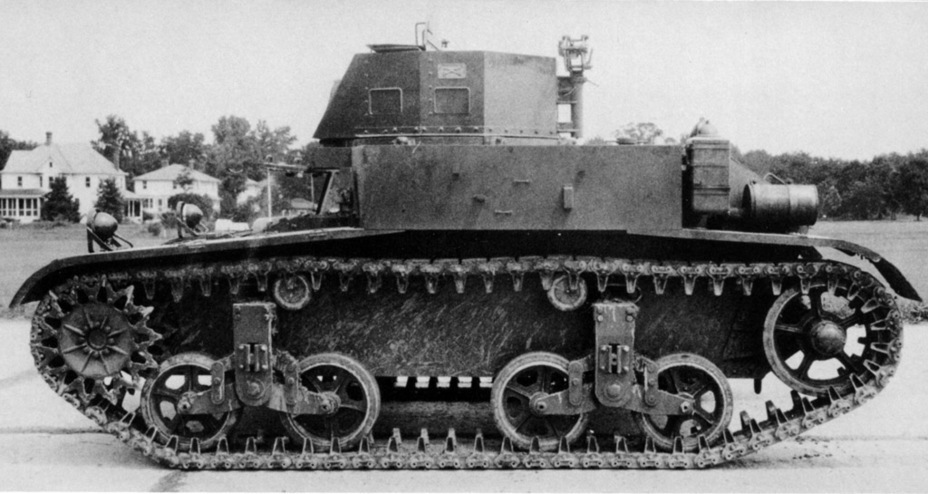 ​Combat Car M1E2 on trials. The space between bogeys increased and the idler was moved backwards - Combat Car M1: Armour for American Cavalry | Warspot.net